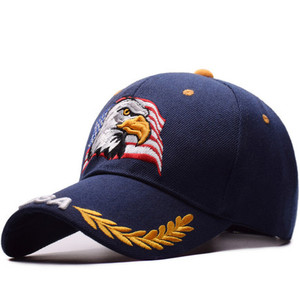 Image 1 - 2019 new eagle embroidery baseball cap fashion hip hop hat outdoor sports cap personality trend daddy cap