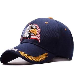 Image 1 - を 2019 新イーグル刺繍野球帽ファッションヒップホップの帽子アウトドアスポーツキャップ人格トレンドパパキャップ