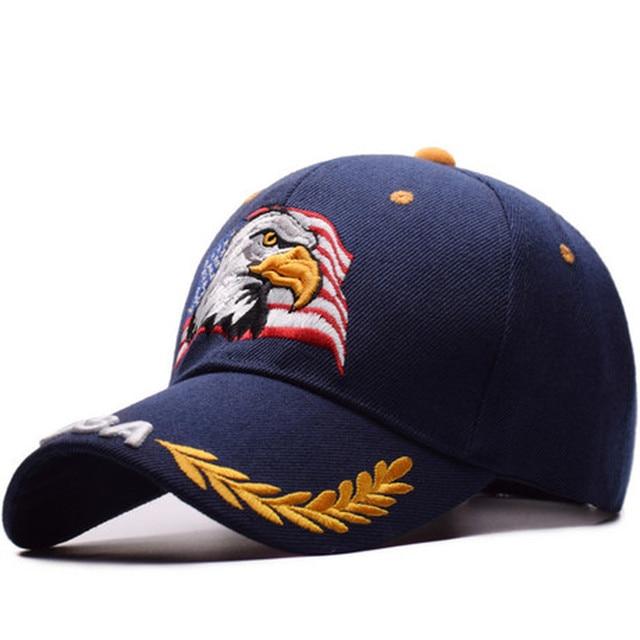 を 2019 新イーグル刺繍野球帽ファッションヒップホップの帽子アウトドアスポーツキャップ人格トレンドパパキャップ