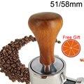 Кофейный порошок Hammer 51 мм/58 мм, деревянная ручка, тамперы, плоский коврик
