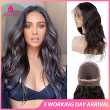 Full Lace Human Hair Wigs With Baby Hair Wavy Pre Plucked Gl