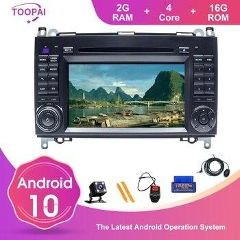TOOPAI Android 10 For Benz A B V Class W169 W245 B160 B170 B200 W639 Vito W906 Sprinter Car Multimedia Player GPS Navigation DVD
