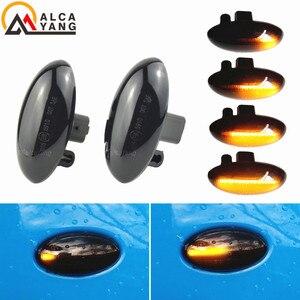 Image 1 - Für Peugeot 307 206 207 407 107 607 Citroen C1 C2 C3 C5 LED Dynamische Blinker Licht Fließende Wasser seite Marker Anzeige Licht