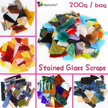 200gram Stained Glass Scraps DIY craft Tiffany glass,Mosaic Hobbies, DIY Material Supplier