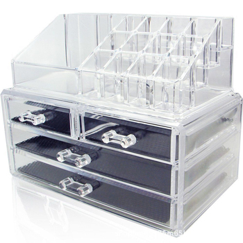 Multiple Acrylic Transparent Makeup Organizer Jewelry Storage Box Lipstick Storage Cosmetic Organizer Makeup Brush Boxes Holder 24 grids lipstick holder makeup lipstick display stand storage rack makeup organizer acrylic storage box