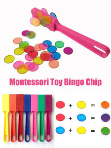 Magnetic-Stick-Tiles Learning-Toys Toy Educational Montessori Transparent Baby with Metal-Loop