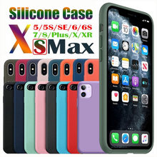 Original Silicone Case For iPhone 11 Pro XS MAX X XR Case On Apple iPhone 7 8 Plus 6 6s 5 5s X Liquid Silicone Cover Retail Box(China)