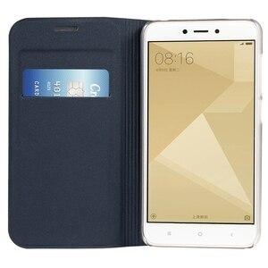 Image 2 - Flip cüzdan deri telefon kılıfı için Xiaomi Redmi 4X kapak Xiomi redmi4x 4 X küresel sürüm kredi kartı ile cep yuvası kapakları