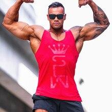 New Summer Cotton Gyms Tank Tops Men Sleeveless Tanktops Muscle Men Bodybuilding Clothing Undershirt Fitness Stringer Vest цена