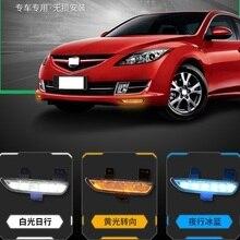 CAPQX 2 шт. для Mazda 6 Mazda6 GH Ruiyi 2009 2010 2011 2012 передний бампер светодиодный противотуманный светильник дневного светильник LED DRL лампы