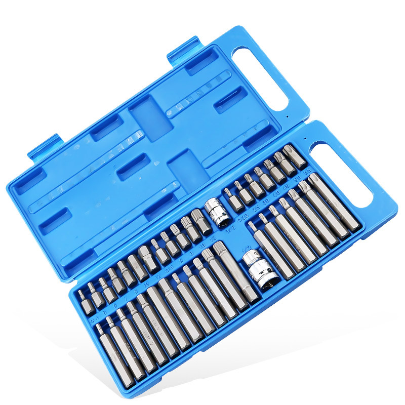 40pcs 1//2in 3//8in Adaptor Drive Shank Hex Torx XZN Spline Star Impact Metric Ratchet Driver Socket Wrench Socket Wrench Sets Color : -, Size : -