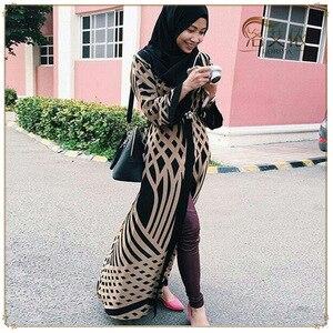 Image 1 - Dubai Open Abaya Muslim Hijab Dress Women Kimono Jubah Kaftan Abayas Turkish Islamic Clothing Caftan Musulman Marocain Long Robe