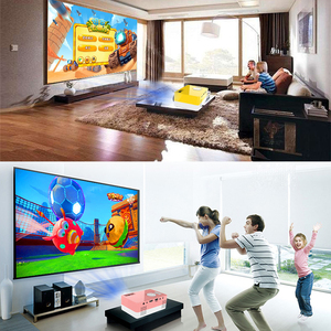 Image 3 - 1080P HD מקרן מיני LED מקרן כף יד סרט Beamer עבור וידאו משחקים חכם קולנוע ביתי מדיה נגן