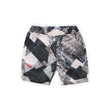 Летние детские тонкие хлопковые шорты в европейском и американском стиле для мужчин и женщин повседневные штаны со средней талией