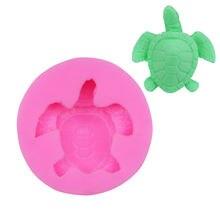 1 шт силиконовая форма для помадки милая морской черепахи тема