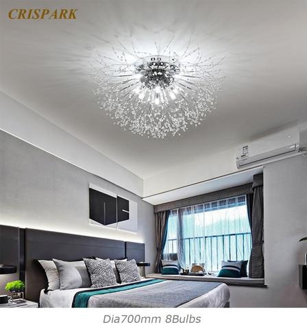 lustre de cristal moderno para teto cristal de cristal luminoso decorativo para sala de jantar