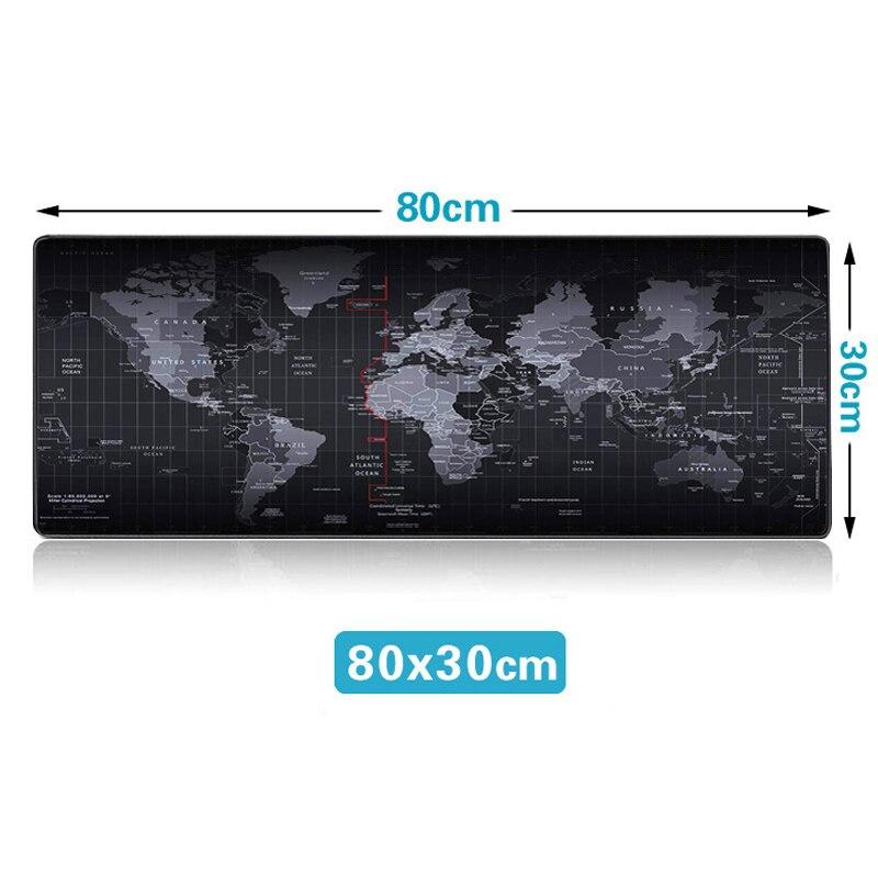 Горячая Экстра большой коврик для мыши карта старого мира игровой коврик для мыши Противоскользящий натуральный резиновый игровой коврик для мыши с запирающимся краем - Цвет: 800 x 300 mm