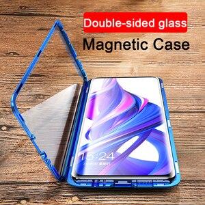 360 Защитный двойной чехол из закаленного стекла для телефона huawei honor 9X магнитные чехлы на honor 20 Pro 10 Lite 9 X honor 20 honor 10