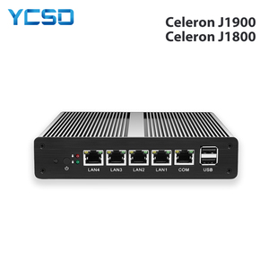 Image 1 - Soft Router Mini PC Intel Celeron J1900 N2830 4GB DDR3L RAM 60GB SSD 4*Gigabit Ethernet RJ45 Consel Firewall PFsense Appliance