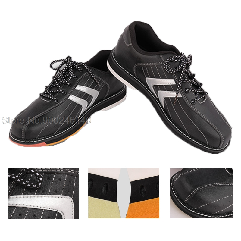 Unisex Bowling Shoes For Men Beginners Indoor Male Sports Shoes Right Hand Skidproof Bowling Sneakers Training Trainers 38-47