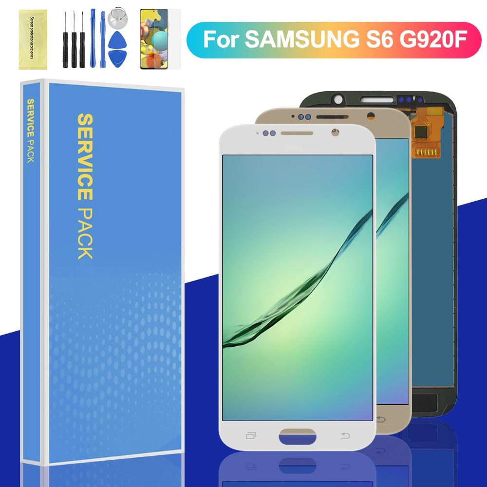 ЖК-дисплей TFT 5,1 ''для Samsung Galaxy S6 G920 SM-G920F G920F G920FD, сенсорный экран с цифровым преобразователем в сборе, экран дисплея