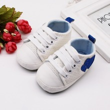 fashion Infant Kid Boy Girl Heart Pattern shoes Soft Sole Canvas Sneaker Toddler