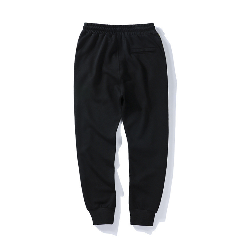 2018 Spring And Summer New Style Ow Prohibited Inside Webbing Casual Pure Cotton Beam Leg Trousers Teenager Europe And America P