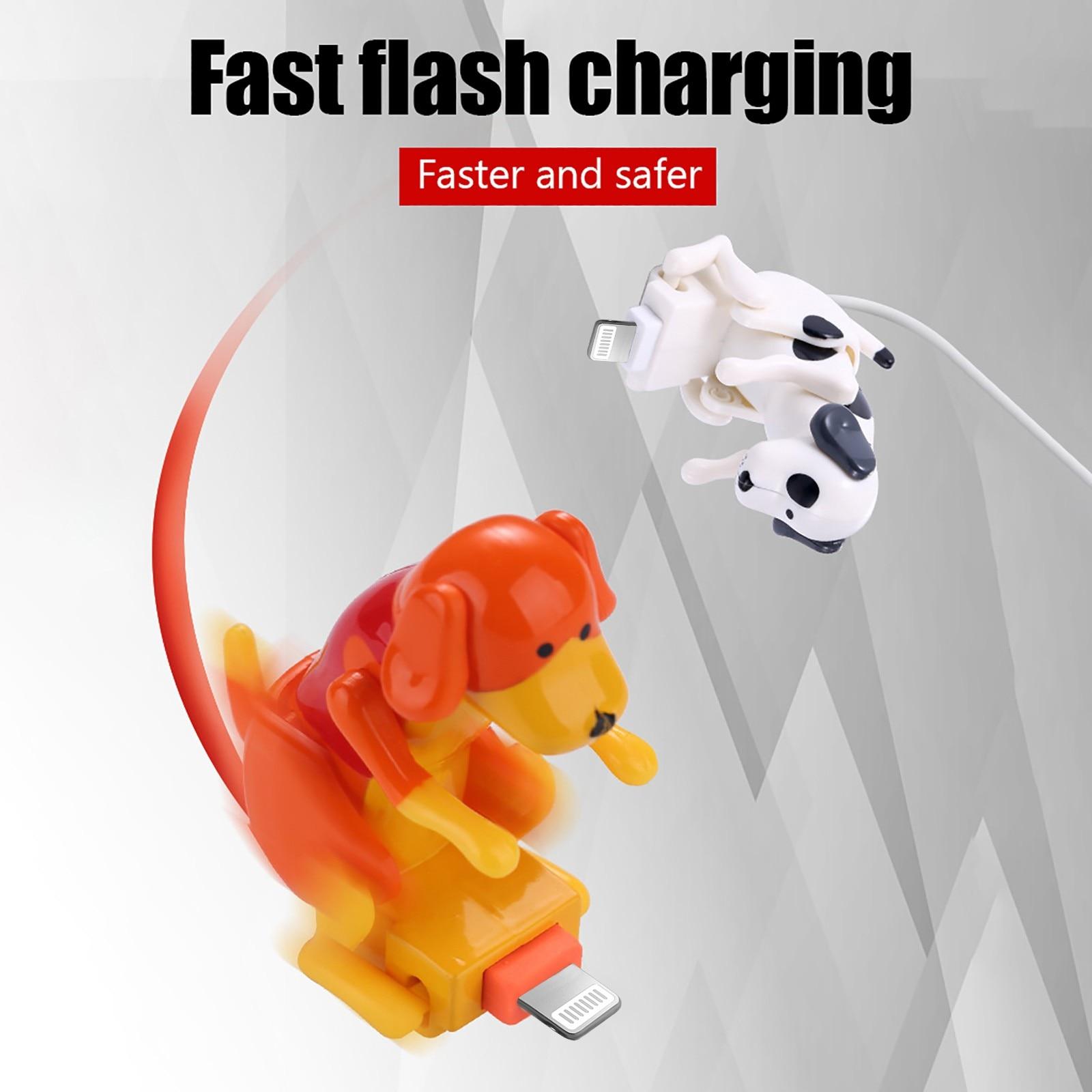 Забавные подушкой собака кабель для быстродействующего зарядного устройства для зарядки линии Милая быстрой зарядки кабель питания дропш...
