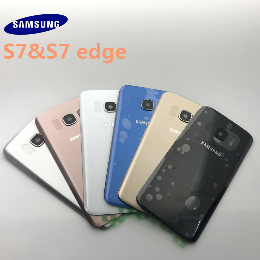 Samsung Galaxy S7 G930 G930F S7 Edge G935 Battery Back Cover Door Housing Replacement Repair Parts+ear Camera Glass Lens Frame