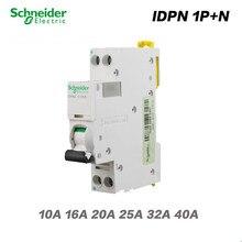 Schneider toda la serie MCB circuito interruptor automático de aire 18mm pequeño MINI 2p IDPNa 1P + N AC 10A 16A 20A 25A 32A 40A