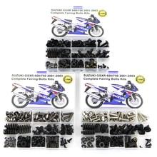 цена на For Suzuki GSXR600 GSX-R600 GSXR 600 750 GSX-R750 2001 2002 2003 Complete Full Fairing Bolts Kit Steel Fairing Clips Nuts Steel