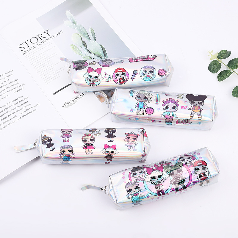 LOL Unicorn Cute Laser Pencil Cases Pencil Case Cactus Pencil Case Flamenco Korean Stationery Office School Supplies