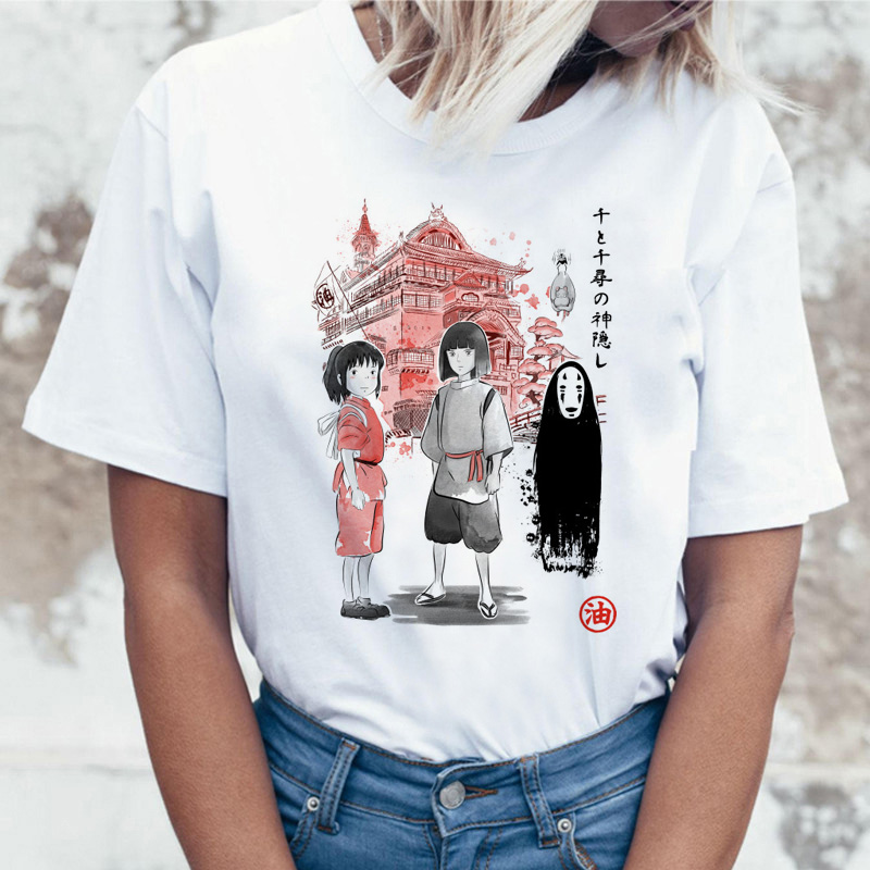 <font><b>Spirit</b></font> <font><b>Away</b></font> Studio Ghibli Japanese Anime Totoro Miyazaki Hayao Anime t shirt <font><b>tshirt</b></font> t-shirt women female femme cartoon clothes image