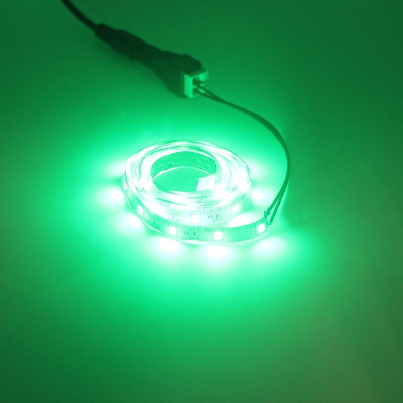 Image 4 - 5m conjunto 2835smd led strip neon led corda luz fita cor  vermelho verde azul branco quente 12v 60leds/mTiras de LED   -