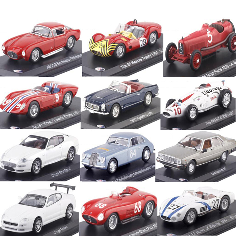 1:43 Scale Metal Alloy Classic Maseratis Racing Rally Car Model Diecast Vehicles Toys For Collection Display Not For Kids Play