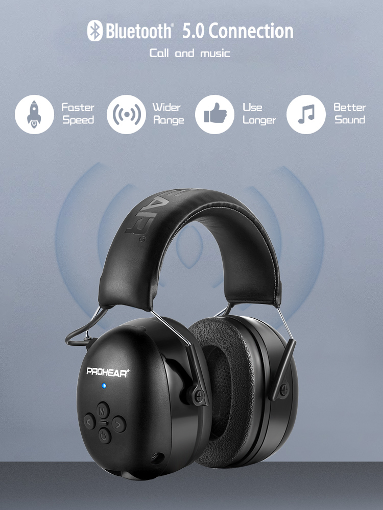 Headset Bluetooth-Earmuff Ear-Protection Music-Shooting Noise Canceling Wireless-Earphones