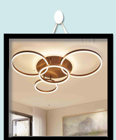 Hd30c842e5356475685b37529332aa646B Surface mounted modern led ceiling lights for living room Bed room light White/Brown plafondlamp home lighting led Ceiling Lamp