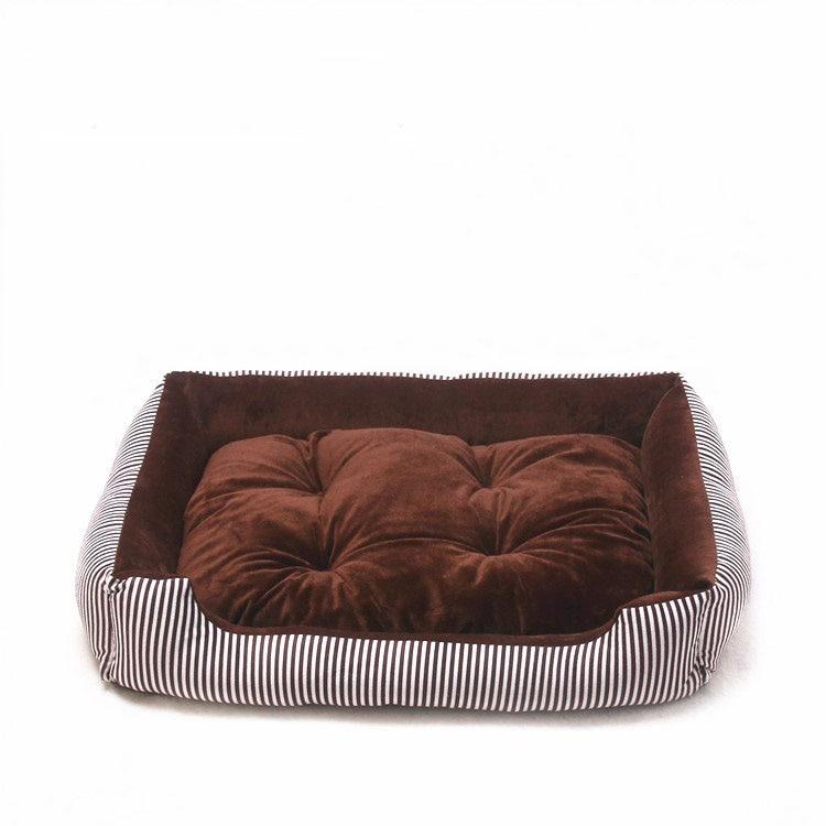 baby soft large Pet Dog Bed Cat kennel Warm Cozy Dog House Soft Fleece Nest Dog Baskets Mat Autumn Winter Waterproof Kennel 9