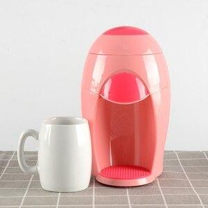 Image 5 - Amerikanische Kaffee Maschine Kleinen Tropf Tee Maker Elektrische Haushalts Tragbare Multi Funktion Brauen Kaffee Maschine Rosa