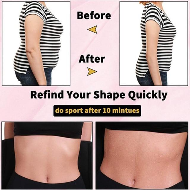 Hot Sweat Waist Trainer Slimming Fine-Tuning Zipper Belt Shaping Machine Shaping Exercise Solid Belt 5