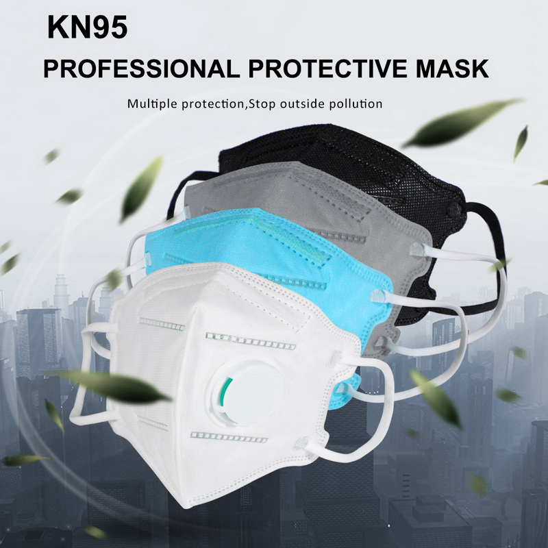 5pcs/10pcs respirator kn95 mask with breathing valve activated carbon filter pm2.5 mouth masks kn95 anti dust allergy fast ship