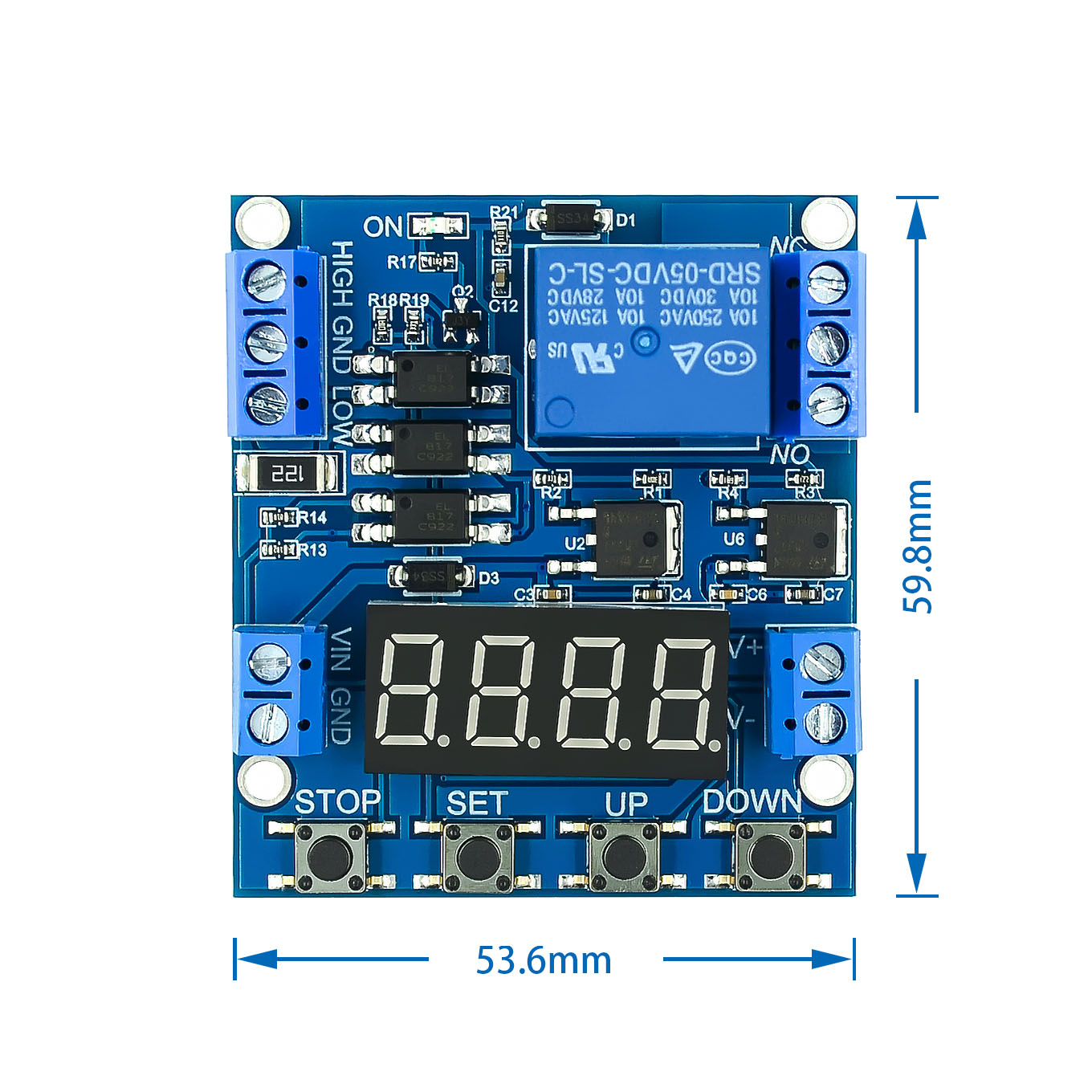 XY-J05 Delay Module Timer Delay Trigger OFF Voltage Upper Lower Limit Detection Cyclic Timing Counting Battery Charge Control