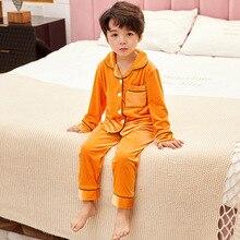 Suit Pajamas-Set Sleepwear-Set Girls Baby Winter Boys Children Warm Thick for Golden