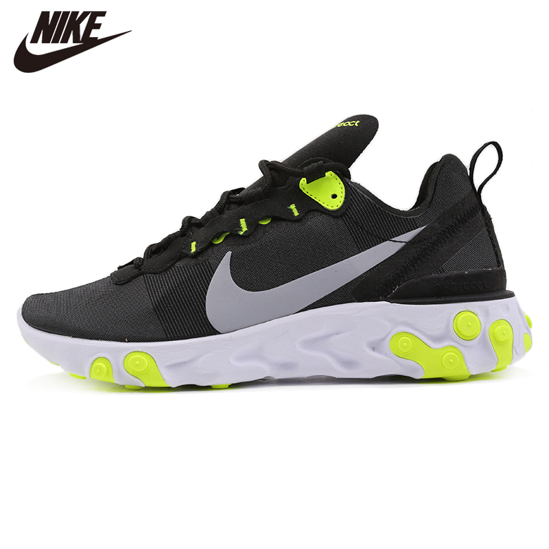 Original New Arrival  Nike WMNS React Element 55 Black Womens Running Shoes Sneakers BQ2728-001