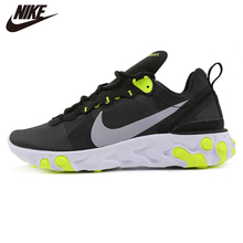 Original New Arrival Nike WMNS React Element 55 Black Womens Running Shoes Sneak
