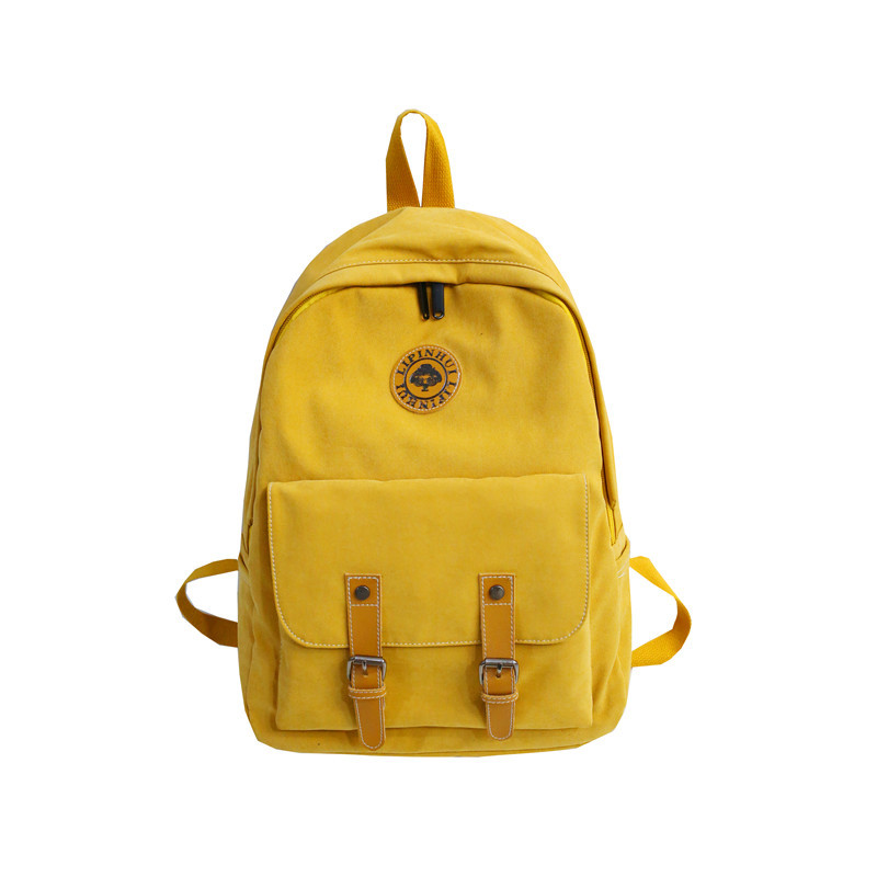 Fashion classic brand girl canvas bag suitable for teenager students leisure travel backpack Korean cute girl backpack Mochila image