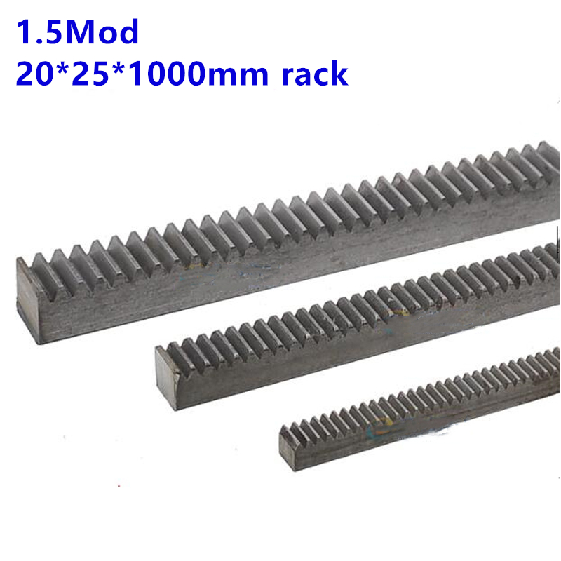 1M-10X10X200MM Precision metal transmission spur rack gear slide rail