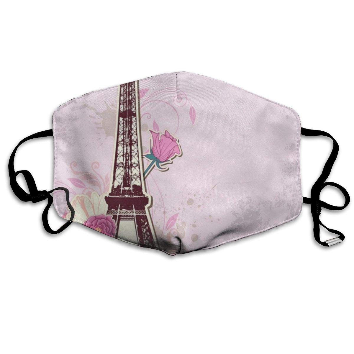 Love Paris Great Dust Mouth Mask Reusable Anti-Dust Face Mask Adjustable Earloop Skin Protection