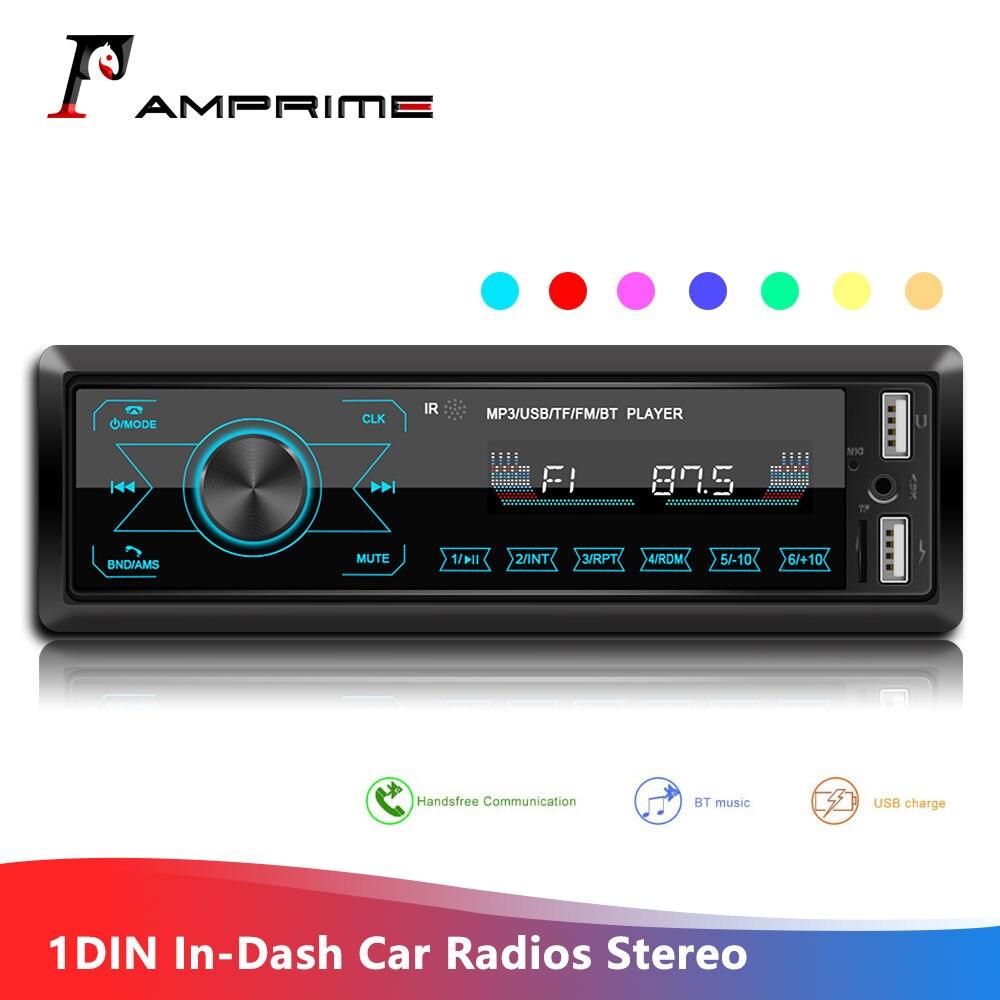Автомагнитолы AMPrime 1DIN In-Dash, стерео, дистанционное управление, цифровой Bluetooth, аудио, музыка, стерео, 12 В, сенсорный экран, автомобильное радио, ...
