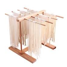 Macarronete casa rack de macarrão pressionando acessórios da máquina dobrável retrátil faia madeira macarrão secagem rack espaguete titular